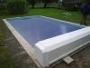 Zwembad met Solar-afdekking bovengronds