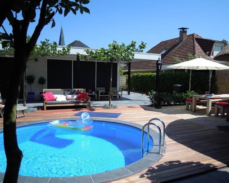 Plaatwandige zwembaden in rondvorm ovaal of 8 vorm q style for Prijzen zwembaden geplaatst